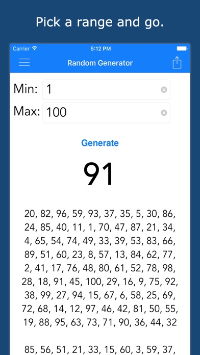 Random numgenerator a full featured random number for Random number table 1 99