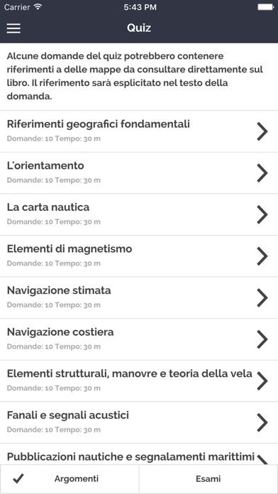 Screenshot of Manuale per la Patente Nautica - Vela entro 12m2