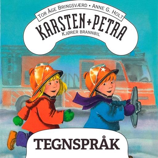 Karsten og Petra kjører brannbil - på tegnspråk