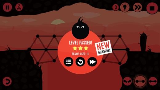 Fat Dots Bridge Builder - Two Dots on The Dangerous Journey Screenshot