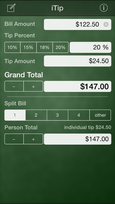 iTip Calc by PalaSoftware screenshot three
