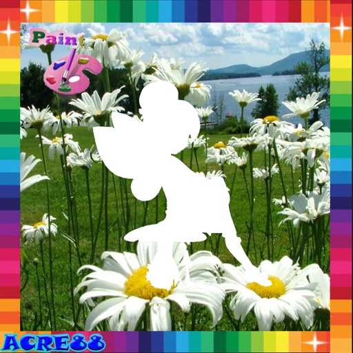 Coloring Game For Kids Tinker Bell Fairies Edition iOS App