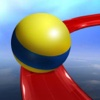 Crazy Rolling Ball. Red Bouncing Pop Ball In Sky Adventure ball