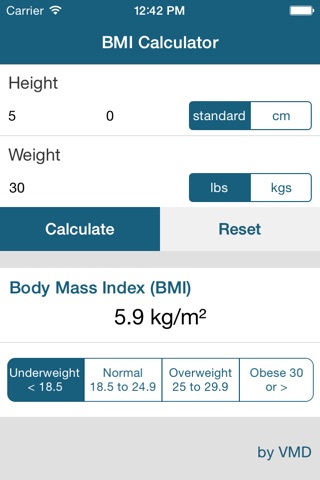 My BMI Calc screenshot 1