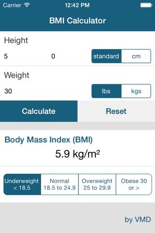 My BMI Calc screenshot 1