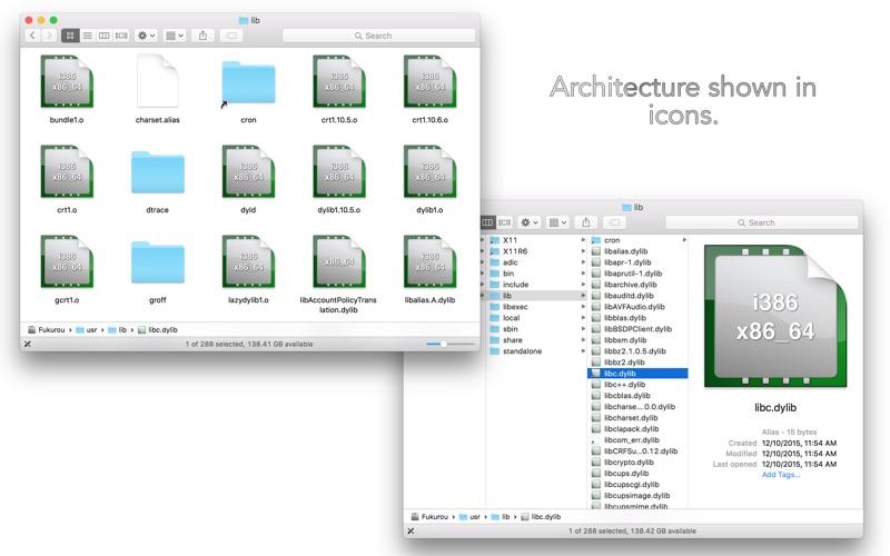 Library Inspector Screenshots