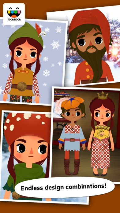 Toca Tailor Fairy Tales review screenshots