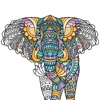 Animal Coloring Pages: Calming Adult Coloring Book