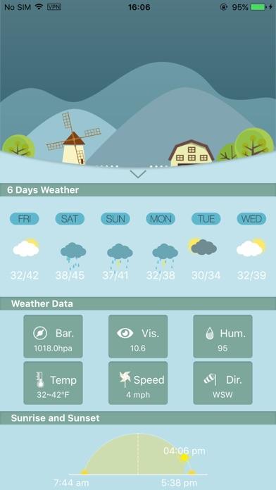Weather Lite+Скриншоты 4