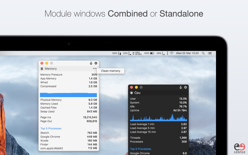 MenuBar Stats Screenshots