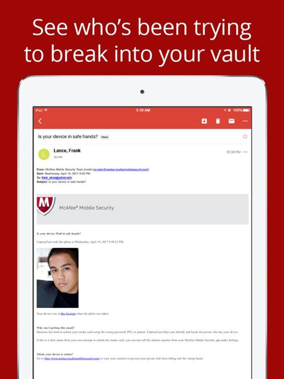 McAfee Mobile Security Screenshots