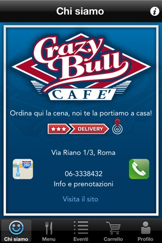 Crazy Bull Cafe screenshot 1