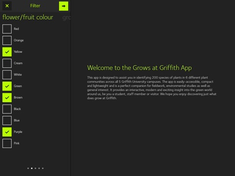 GrowsAtGriffith for iPad screenshot 2
