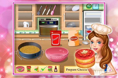 Baby cooking games:cheesecake screenshot 2
