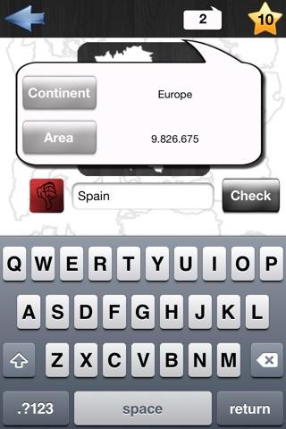 Country Conturs Quiz screenshot 3