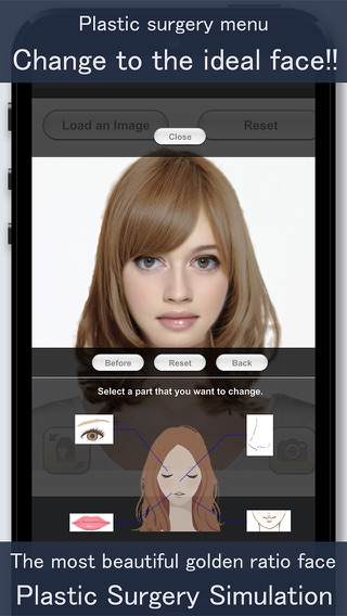 Application simulation coiffure iphone