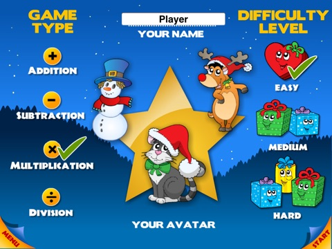 Abby Basic School Snowman Math: Challenge Educational Game for Kids by 22learn screenshot 1