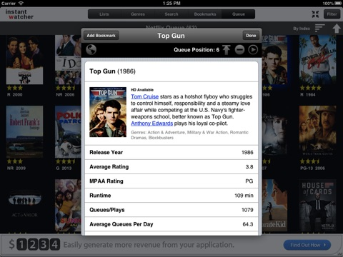 InstantWatcher  -- for iPad screenshot 2