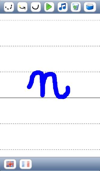 Учитесь писать скорописью буквы алфавита в верхнем и нижнем регистре со звуков в английском и французском языках - основы для детейСкриншоты 4