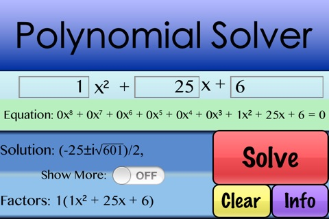 Factor Polynomials screenshot 1