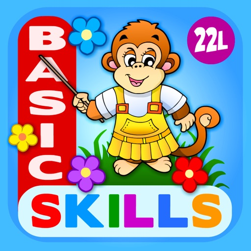 Abby Monkey® Basic Skills: Preschool and Kindergarten Kids Educational Early Learning Adventure Games.▫ TeachMe Counting, Colors, Alphabet, Math, Numbers, Shapes Sorting, Patterns, Puzzles, Learn to Read Letters for Toddler Children images