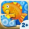 Bambini piccoli - puzzle di pesce (6 pezzi) 2+