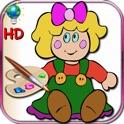 Livro de colorir para as meninas - colorir com bonecas clássicas, japonês e russo HD