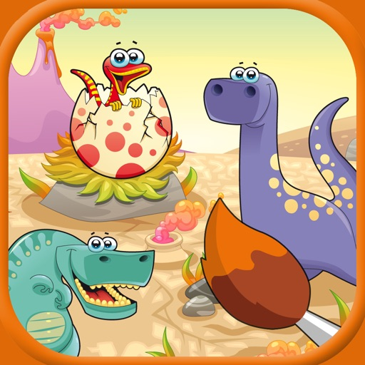 Dinosaur Coloring Book For Kids 2014 : Free Coloring Pages iOS App