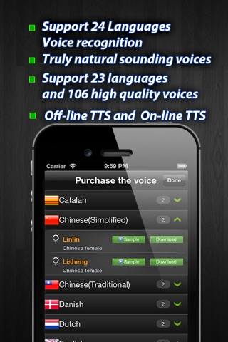 iPronunciation free - 60+ languages Translation for Google & Bing screenshot 4