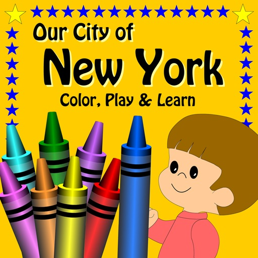 Our City Of New York, Color, Play And Learn, Activity Book
