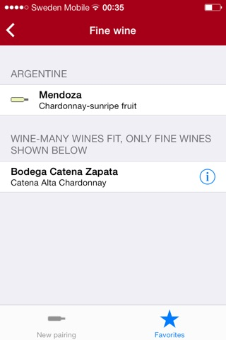 Wine for food pairing pro screenshot 4