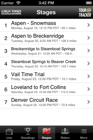 USA Pro Cycling Challenge Tour Tracker screenshot 3