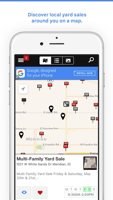 Garage Sales By Map Free On The App Store - Us map iphone developer