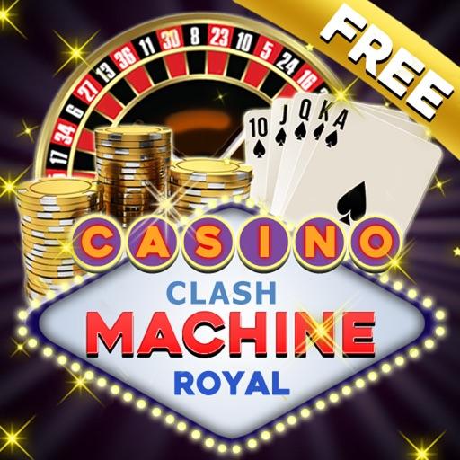 Casino Clash Lucky Machine Royal - Free (Roulette, Slots 8 Themes, BlackJack, Video Poker) iOS App