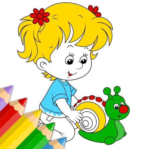 Libro virtual para colorear para niños y niñas pequeños y chavales ...