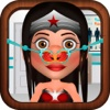 Nose Doctor Game for Kids: Justice League Version