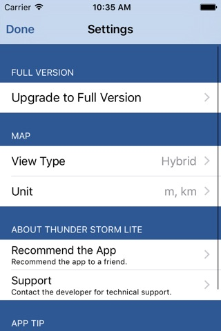 Thunder Storm Lite - Distance from Lightning screenshot 3