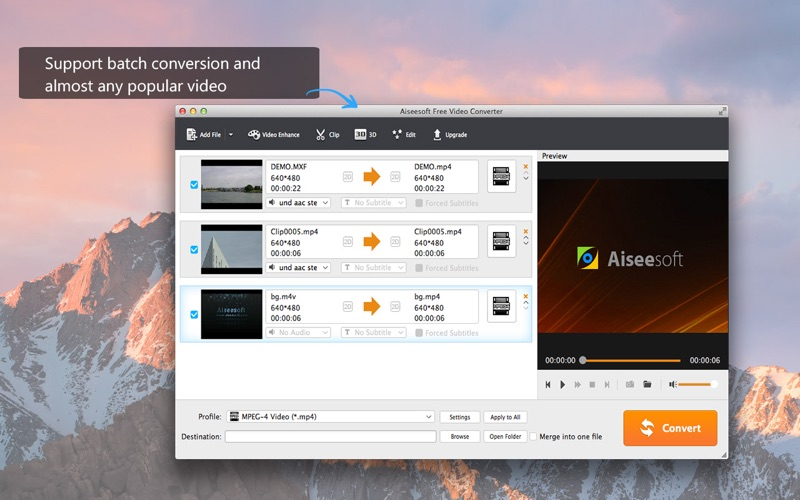Screenshot #2 for Aiseesoft Free Video Converter - Convert Video from YouTube/AVI to MP4/MP3