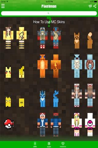 Pokemon Edition Skins For Minecraft PE Pocket Edition Best - Minecraft skins fur ipad