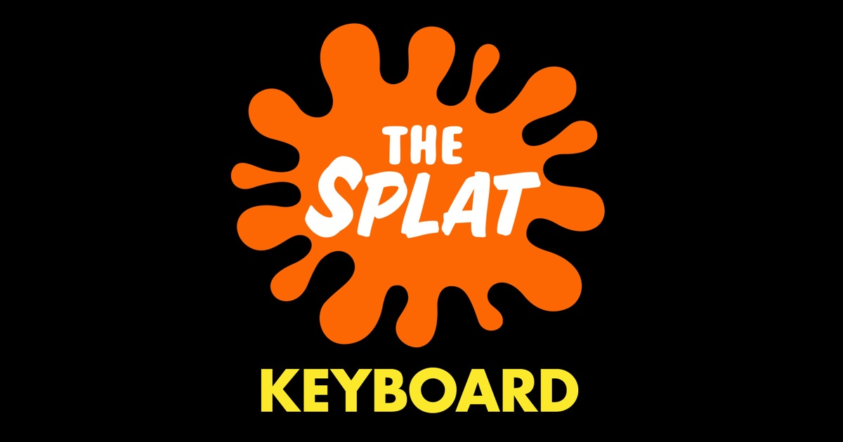 Nickelodeon s the splat emoji keyboard on the app store for 90s house tunes