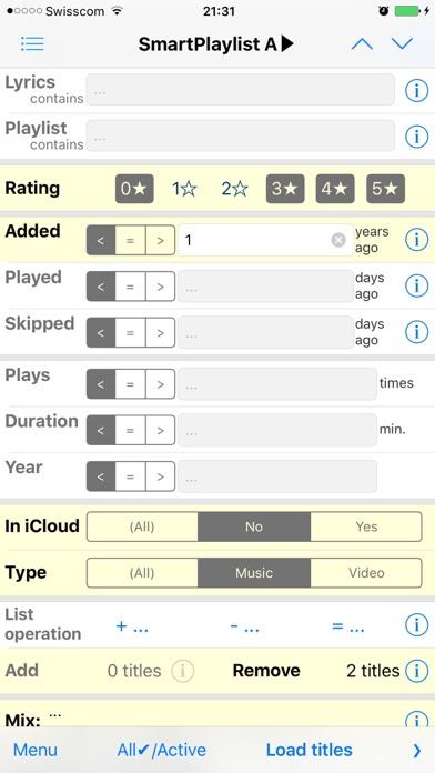 SmartPlaylist Screenshots