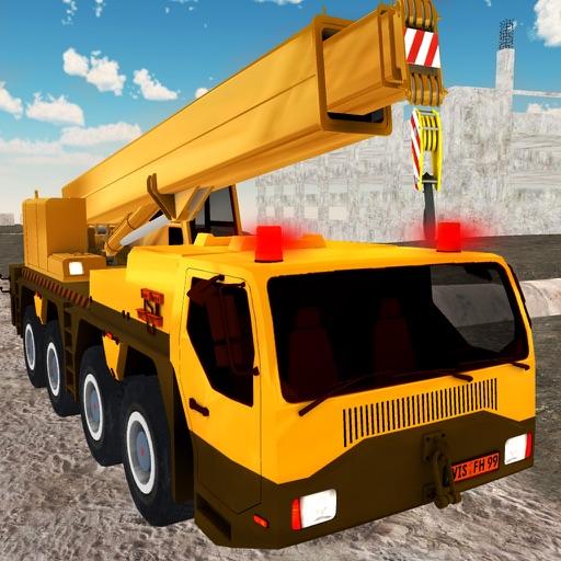Heavy crane city construction d operate drive