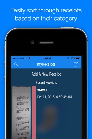 myReceipts - Receipt Organizer screenshot 1
