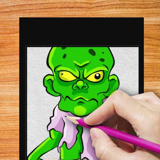Drawing Lesson Zombie Fan iOS App