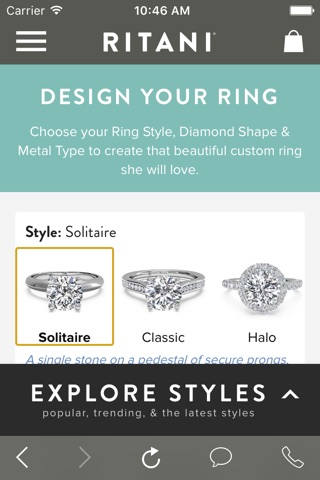 Ritani - A Smarter Way To Buy An Engagement Ring screenshot 2
