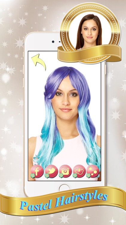 Rainbow Hair Color Change.r & Montage - Edit Photo in Virtual Salon ...