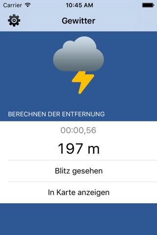 Thunder Storm Lite - Distance from Lightning screenshot 1