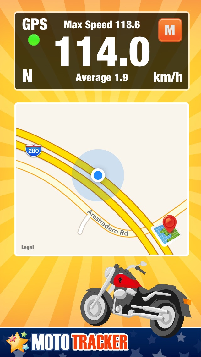 Motorcycle Ride Tracker -  GPS Moto Navigation for Bikers, Motoriders, ScootersСкриншоты 1