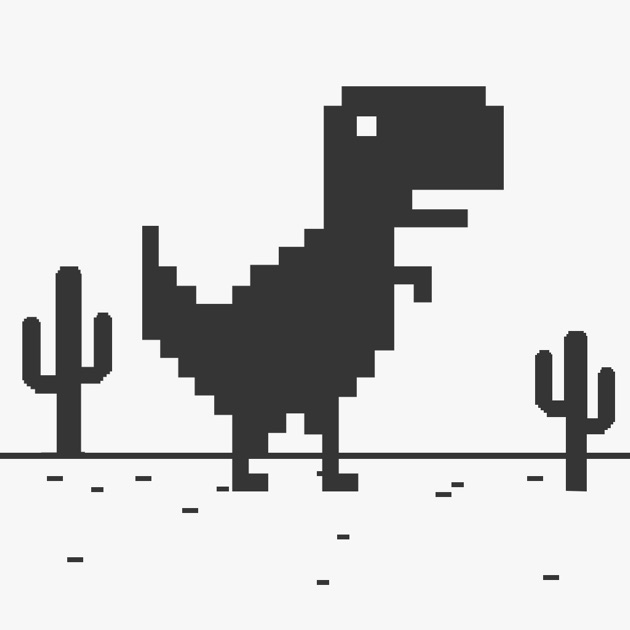 t rex steve widget web juego la l nea del dinosaurio en el navegador de internet en app store. Black Bedroom Furniture Sets. Home Design Ideas