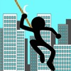 Fly Ninja With Rope Stick N